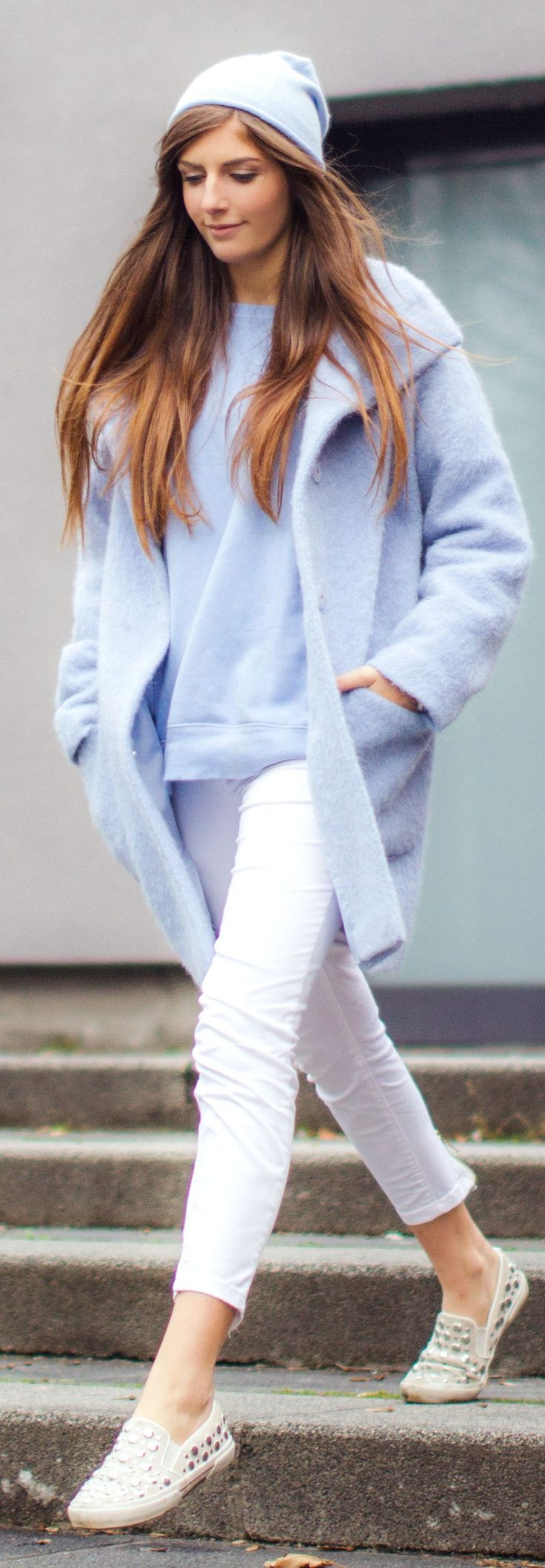 Baby Blue Knit Beanie