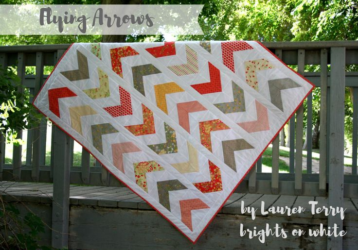 Moda Bake Shop quilt - Flying Arrows, using a Sundrops layer cake. By Lauren Terry.