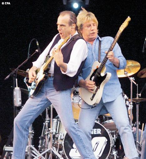Status Quo. Status Quo are an English rock band whose music is characterised by their distinctive style of boogie rock.