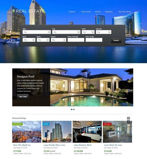 WP Pro Real Estate 4 Responsive Real Estate WordPress Theme |Xtratheme