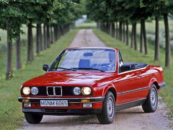 BMW 3-Series Convertible (1986 – 1989).