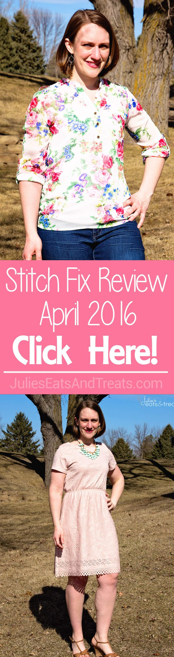 Stitch Fix Review April 2016 ~ Personalized Stylists Pick Out a Selection of Five Clothing Items or Accessories and Ship it to Your Doorstep! ~ http://www.julieseatsandtreats.com