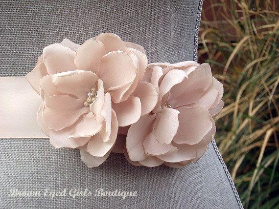 Blush Bridal Sash  Blush Wedding Belt by browneyedgirlsboutiq, $70.00