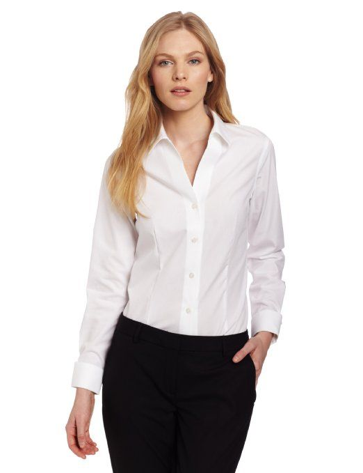1379 best images about white shirt on pinterest sexy for No iron white shirt womens