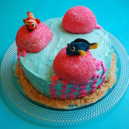 Finding Nemo: Marlin and Dory's  - Image Collection: Birthday, Recipe, Findingnemo, Jellyfish Cake, Cakes, Disney, Party Ideas, Dory S Jellyfish, Finding Nemo