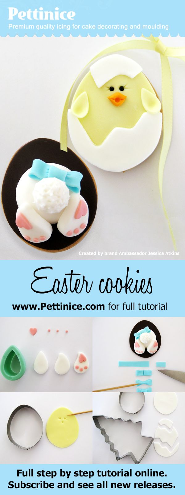 How to make Easter cookies. Easy edible Easter craft ...