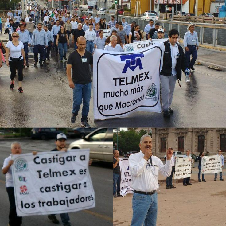 Los derechos laborales no se negocian; Sindicato de Telefonistas de México marchan contra resolución del Ifetel de separar la planta externa y enterrar el convenio colectivo | El Puntero