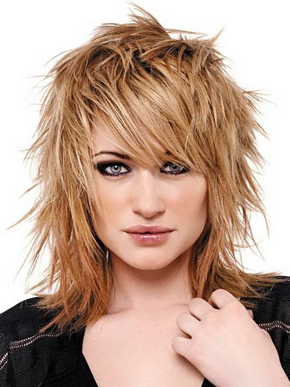 layered hairstyles for medium length hair | photo of medium length edgy razor haircut short crop haircut