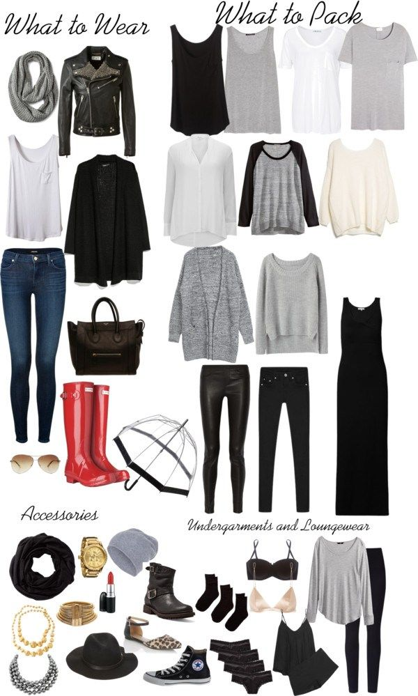 A mix and match packing list. 40 different outfits plus sleepwear and underclothes. One flight outfit and the rest you can fit in a carry on. Packing light #travellight #packinglight livelovesara.com