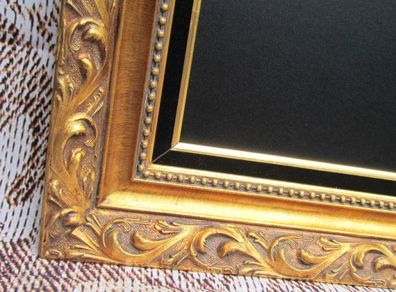 "Extra Large Baroque GOLD FRAMED CHALKBOARD 56""x32"" Acanthus Leaf Vintage Framed Magnetic Chalkboard Dining Room Wall Decor"