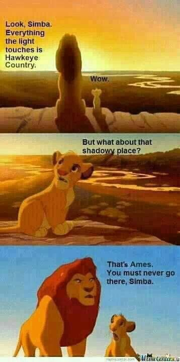 That's ironic considering my family lives in Ames.