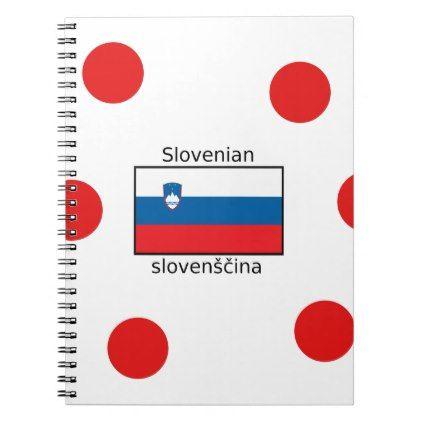 Slovenian Language And Slovenia Flag Design Notebook - individual customized unique ideas designs custom gift ideas