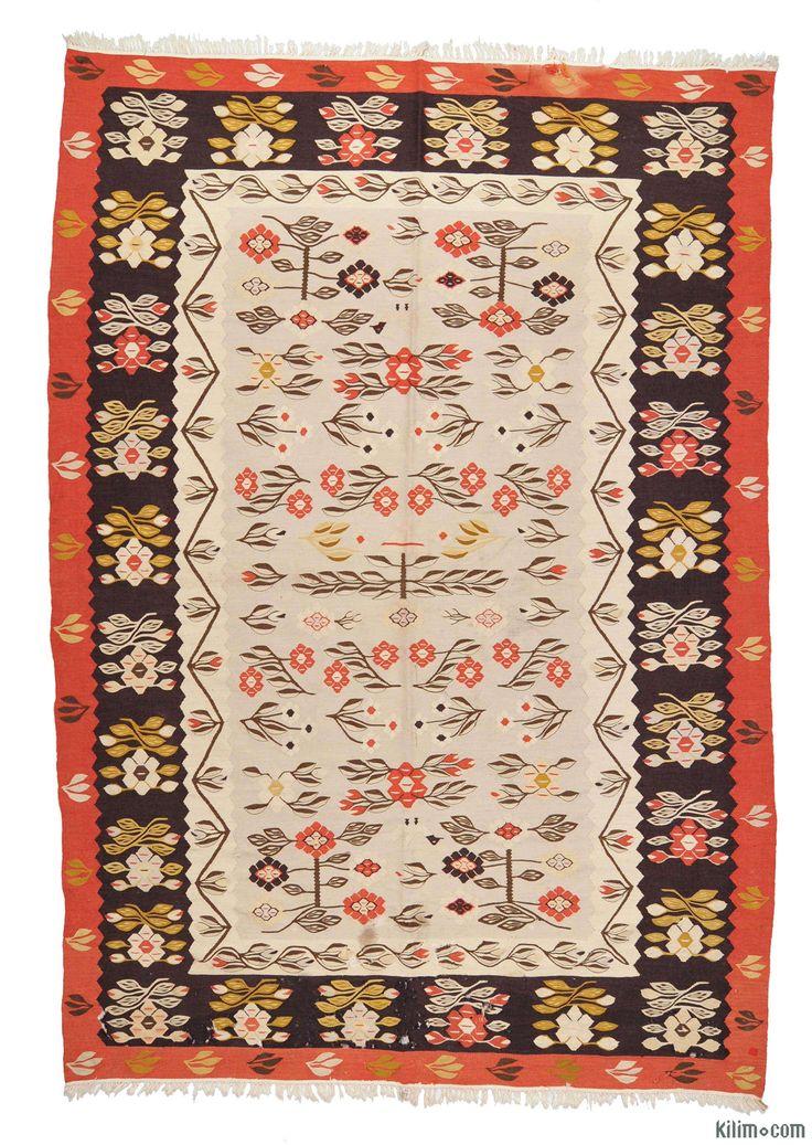 K0005286 Vintage Romanian Kilim | Kilim Rugs, Overdyed Vintage Rugs, Hand-made Turkish Rugs, Patchwork Carpets by Kilim.com
