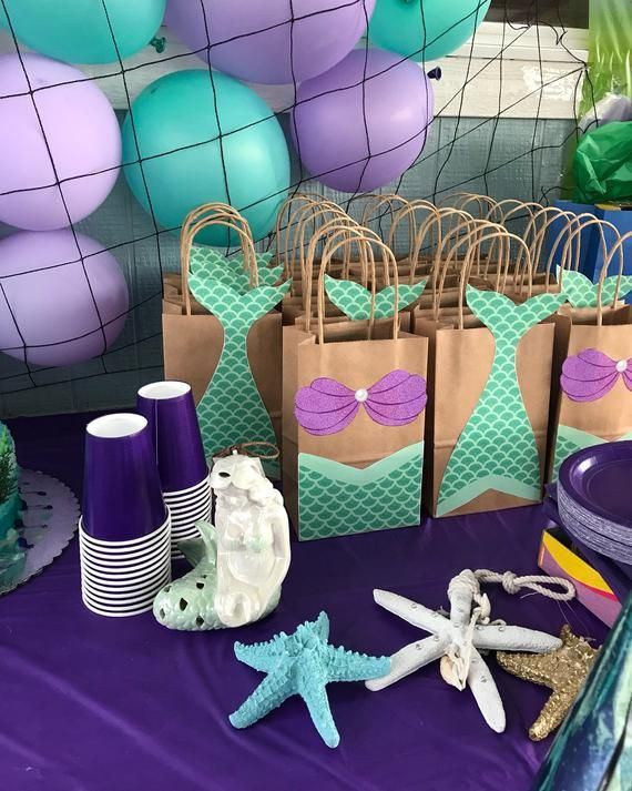 Mermaid FAVOR BAGS/ Mermaid Party Bags/ Mermaid Birthday/ Party Theme/ Mermaid Party Supplies/ Mermaid Gift/Candy/ Goodie/ Goody/ Bag/ Boxes