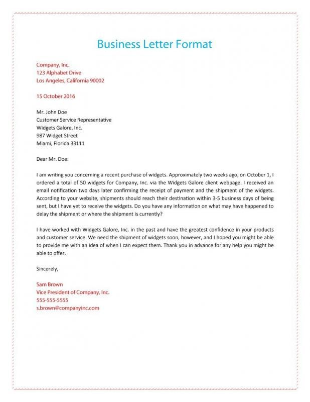 Format Of A Business Letter template Pinterest Form letter