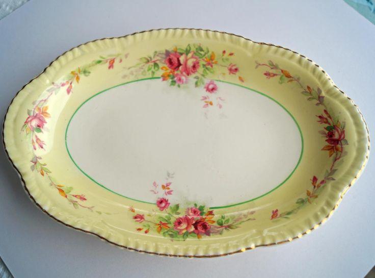 Vintage, Bon bon dish, Bone China, Floral Set, Tea Party, Rose, Woods Ivory dish, small plate, gift, yellow dish by VintageBoneChina on Etsy https://www.etsy.com/listing/249568630/vintage-bon-bon-dish-bone-china-floral