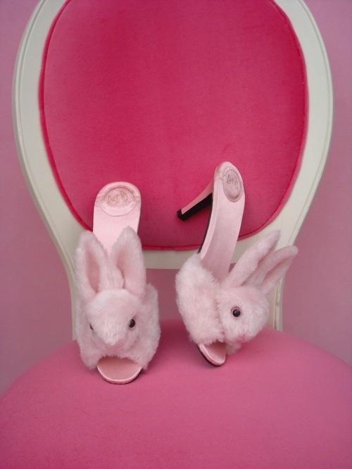Streetzie's High Heel Bunny Slippers