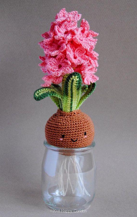 CROCHET PATTERN – Hyacinth bulb – spring flower amigurumi