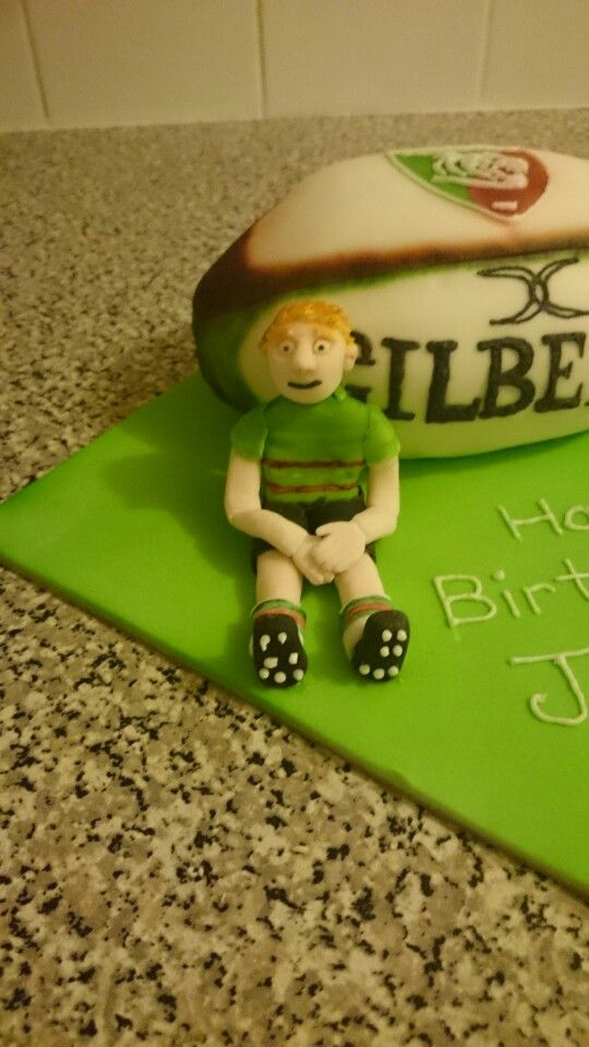 Rugby ball cake