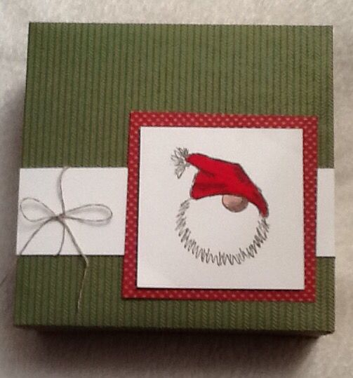 Box for cards with motif tomte
