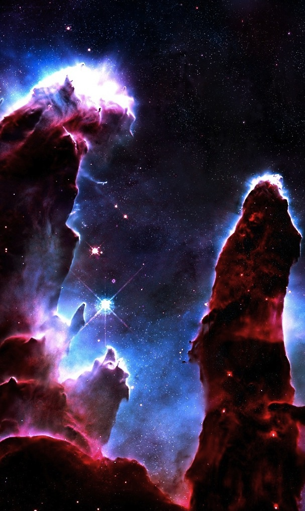 Eagle Nebula: Pillars of Creation - Standing fast in spatial void - Light years away