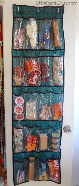 I like the idea of this on my door but not for snacks... for other things like shampoo etc...