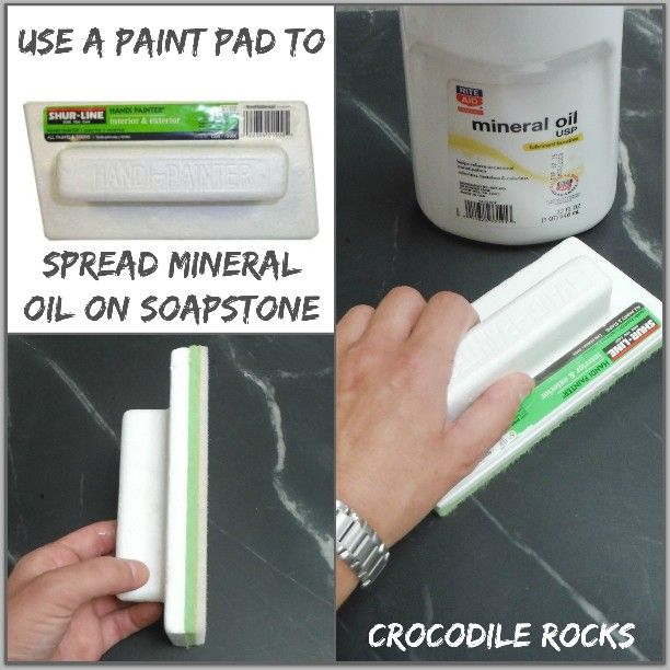This #paint pad is an excellent tool to spread oil/wax on your #soapstone countertops! It eliminates a greasy mess and that's always a good thing  #contractor #builder #interiordesigner #soapstonetips #seattlesoapstone #crocodilerocks #interiordesign #country