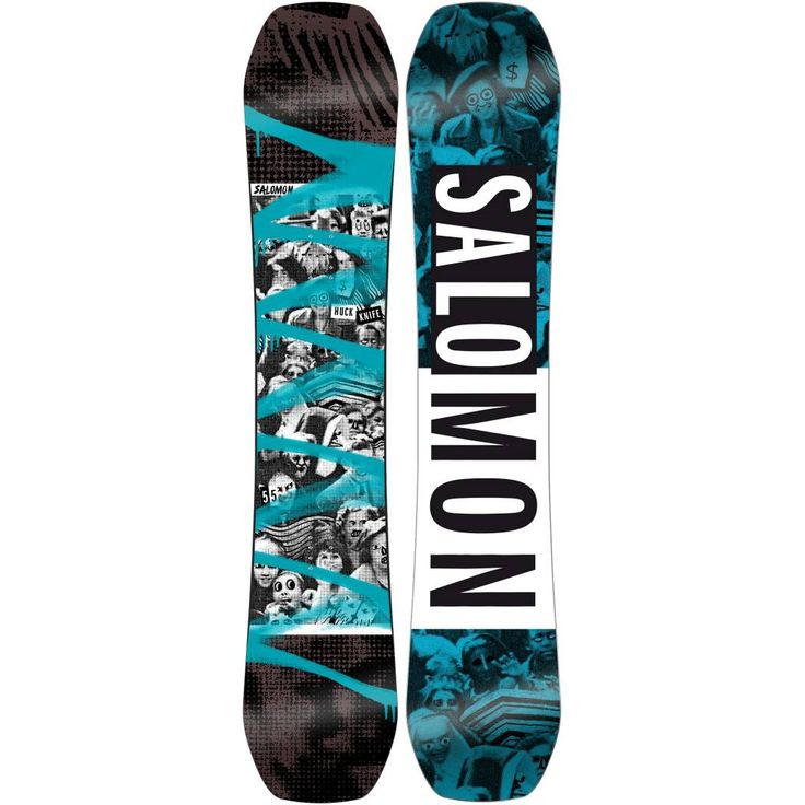 Salomon Huck Knife Wide Snowboard - $429.95 - Salomon Men's Huck Knife Snowboard Wide is for the park rat rider looking to progress their freestyle skills on a camber board. Lock in your landings and easily turn on sketchy hardpack with the EQ Rad Sidecut and Quad Camber profile. Playful medium flex matched with popstar booster gives you the freedom to ollie big and press out jibs.