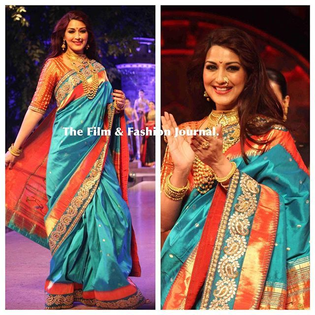 sonali bendre in paithani sarees - Google Search