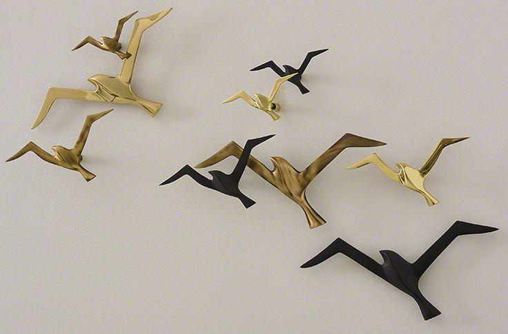 moderne dekoideen wohnzimmer mit Vögel aus metall für moderne Wandgestaltung