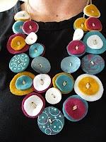 Fofette Bijou e artesanato em feltro: Passo-a-passo: Colar de feltro que imita botões!