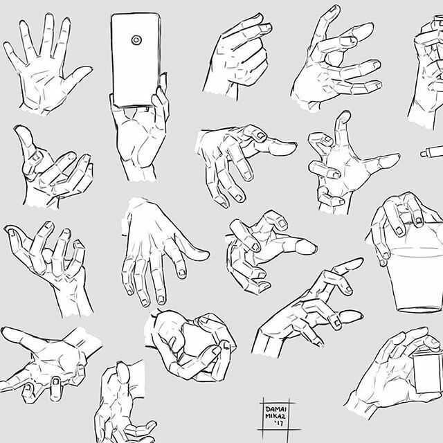Hand poses references | ART in 2019 | How to draw hands