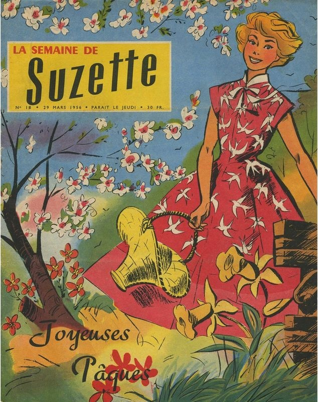 """""""La Semaine de Suzette"""" ma tante Lili m'en a offert un par un chaud après midi de vacances près d'Avignon"""