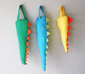 Artesanato e Cia : Rabo de dinossauro em tecido para as crianças! - passo a passo