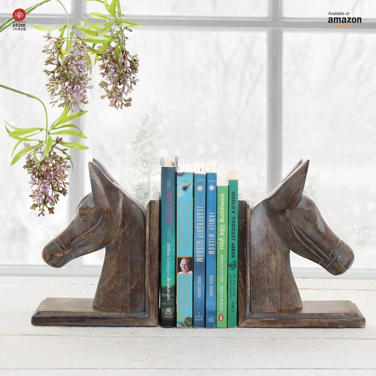 Amazon.ca | Store Indya | Decorative Book Ends Rack Display CD DVD Stand Holder Organizer Hand Carved Wooden Horse Shaped Bookend Pair Bookshelf For Home Office Decor #Office #Decor #Bookshelf #Book #Bookend #Wood #Books #Home #Family #Friends #Gifting #HomeDecor #HomeAccessories #MondayMotivation #GivingTuesday #CyberMonday #Christmas #ChristmasIsHere #Christmas2017 #ChristmasDecor #ChristmasDecoration #Handcrafted #Handicrafts #Handmade #Artisan #Thanksgiving #BlackFriday #Decoration