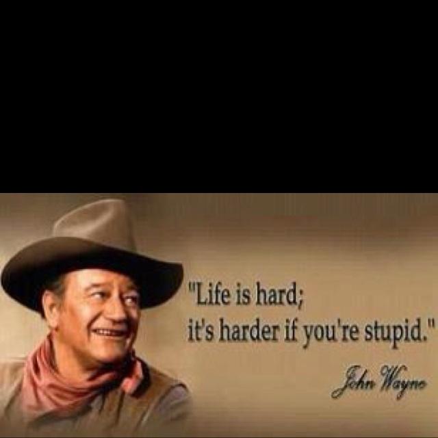 Life's hard...