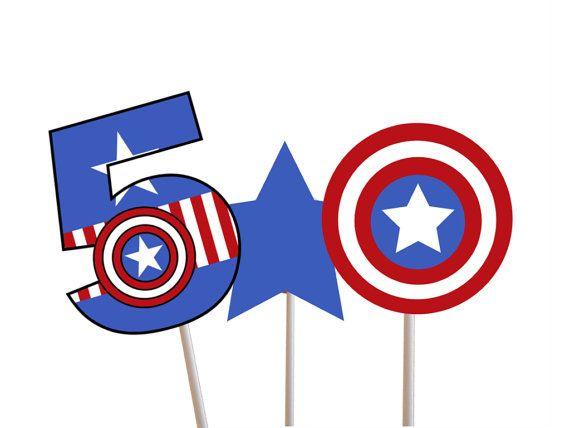 Superhero Captain America Centerpiece Captain by TheLastCandy, $1.00