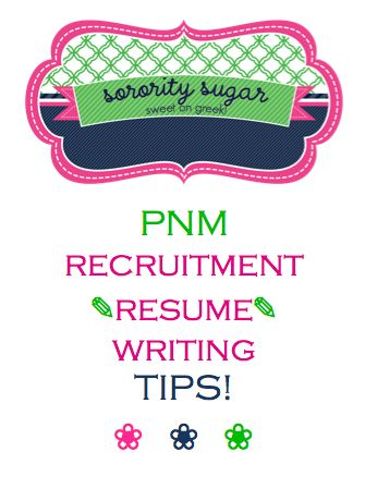 The 21 best images about Sorority recruitment on Pinterest Bingo - sorority resume