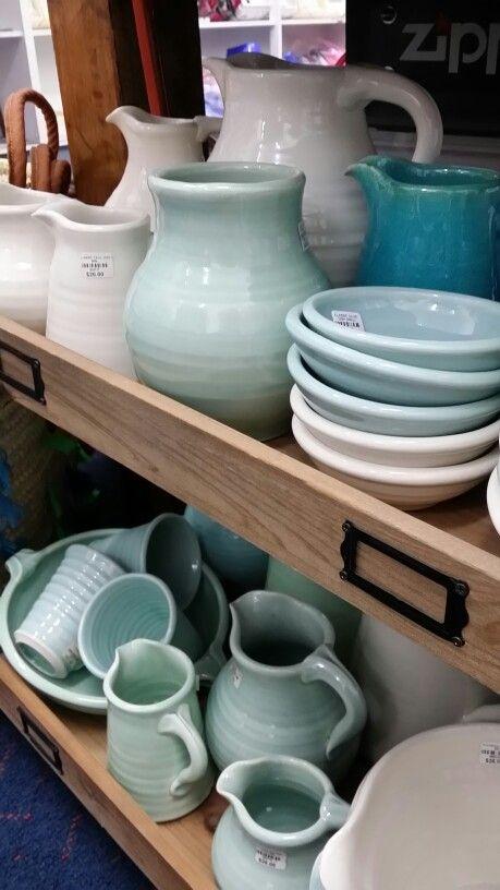 Tony Sly Ceramics classic range jugs vases and olive bowls.