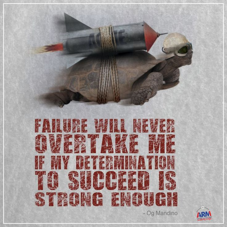 Failure Will Never Overtake Me If My Determination To Succeed Is Strong Enough..