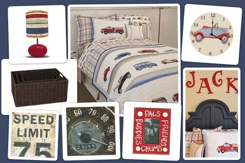 Vintage Cars and Trucks Bedroom -- in case JJ ever gets into cars