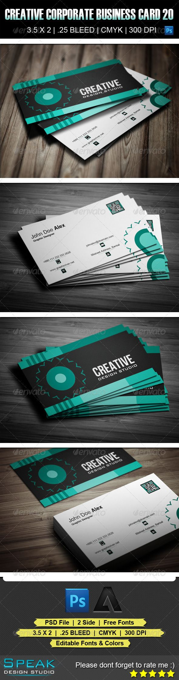 34 best cdr images on Pinterest | Print templates, Business cards ...