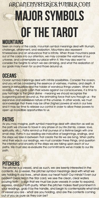arcanemysteries: Major Symbols Of The Tarot. — The Tarot Sybarite
