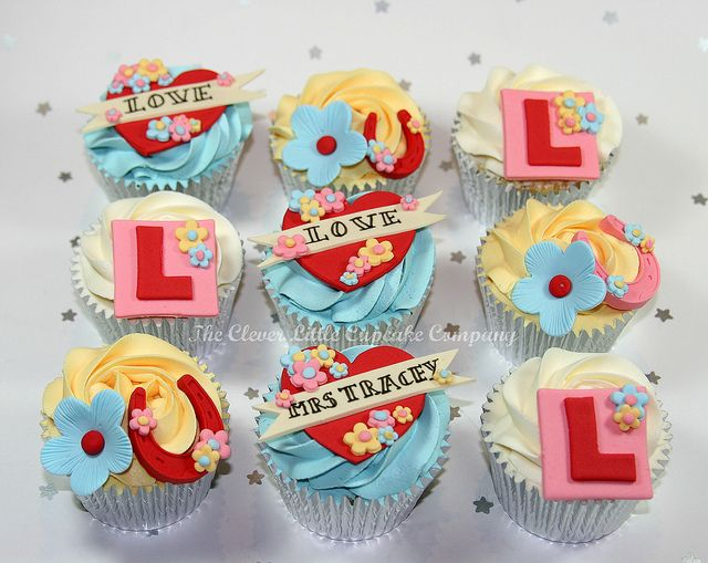 Hen Night Cupcakes by The Clever Little Cupcake Company (Amanda), via Flickr