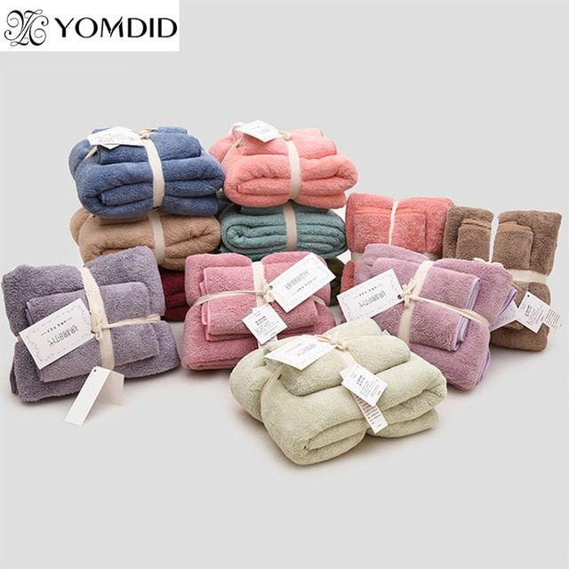 soft towel soft absorbent towel Plush quick-drying towel set