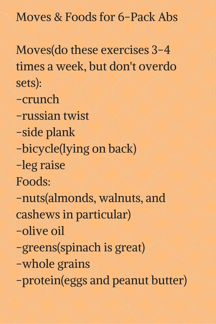 Moves & Foods for 6-Pack Abs