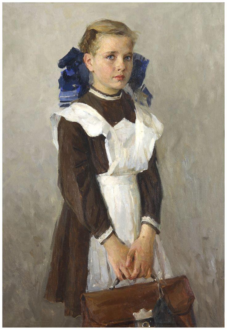 """Portrait of the daughter / Портрет дочери"" Лесницкая Л.И. (L.I. Lesnitkaya)"