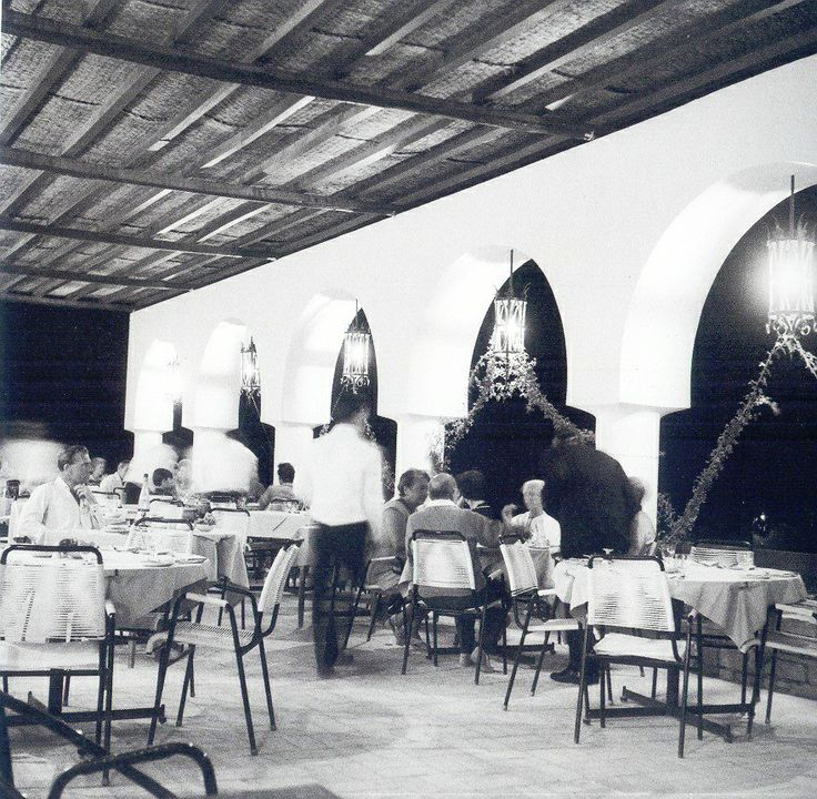 The restaurant of #MinosBeach #Crete #1960