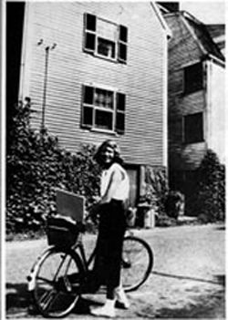 Photos of Famous Authors and Their Bicycles - The Atlantic - An 18-year-old Sylvia Plath with her bike.