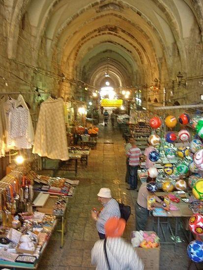 Old City of Jerusalem - Arab Market indoors